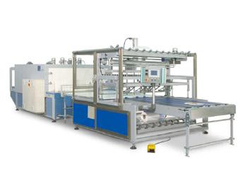 INLINE+TUNNEL: Máquina de embalaje con film retráctil