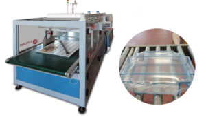 Shrink packaging of kit forniture components for shops and exhibitions | CARBONCHI CTI Italy