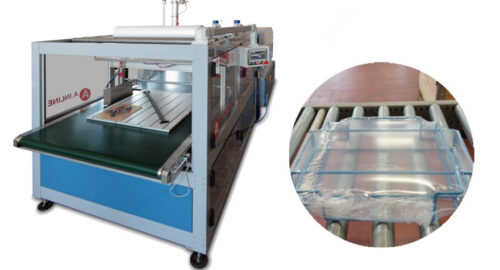 INLINE RETAIL: Shrink packaging machine of kit forniture components